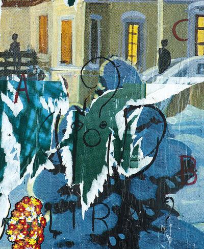 Mimmo Rotella, 'Lirre', 1989