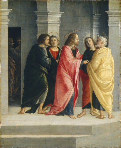 Vincenzo Civerchio, 'Christ Instructing Peter and John to Prepare for the Passover', 1504