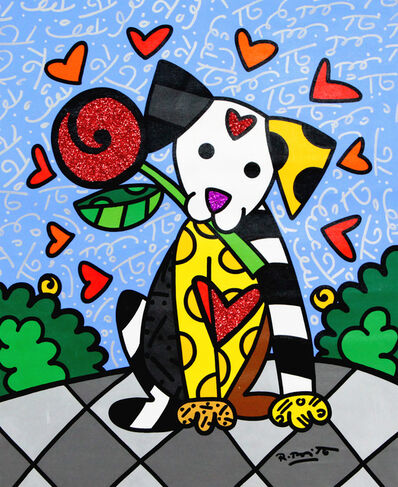 Romero Britto, 'Lovely Dog', 2019