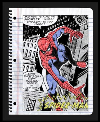 Nelson De La Nuez, 'Nelson De La Nuez, Spider Man Mixed Media Oil Pastel Sketch', 2019