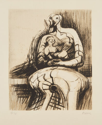 Henry Moore, 'Seated Mother and Child', 1977
