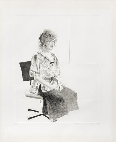 David Hockney, 'Celia Seated on an Office Chair', 1974