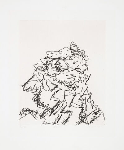 Frank Auerbach, 'JYM, from Seven Portraits', 1989-90