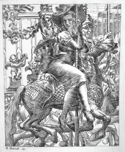 Reginald Marsh, 'Merry-Go-Round', 1938