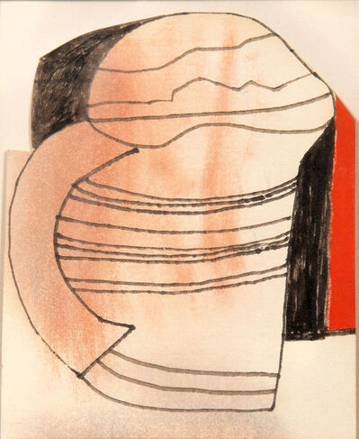 Ben Nicholson, 'Red and Black Mug or cup', 1981