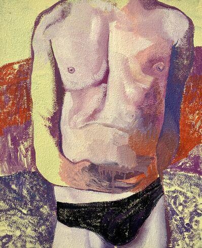 Matteo Benetazzo, 'Nude on jellow landscape', 2019