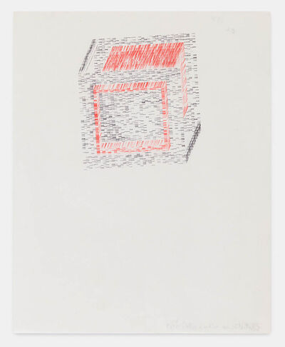 Dom Sylvester Houédard, 'partial cube within a cube', 1969