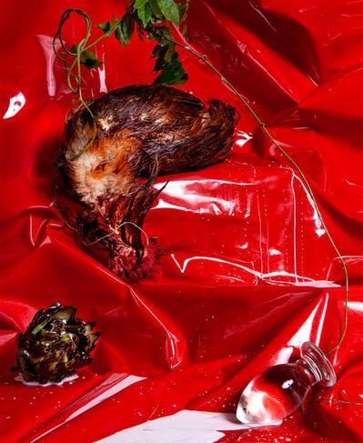 Arden Surdam, 'Chicken Hanging Before Red Wall ', 2019