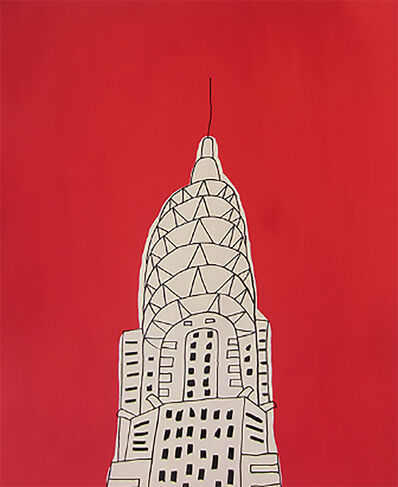 "Marz Junior, '""NYC Chrysler Building""-Red Vertical ', 2019"