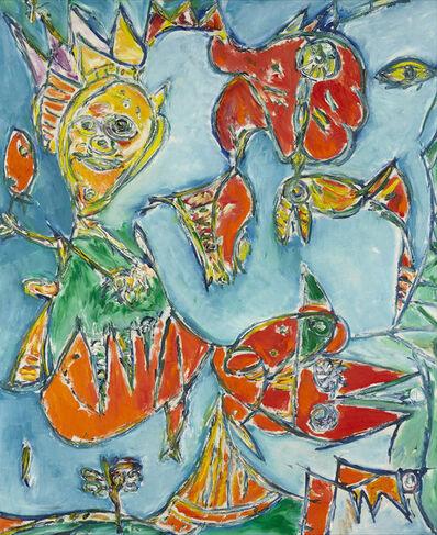 Carl-Henning Pedersen, 'Forfra og bagfra', 1988