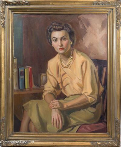 Edward Horace Nicholson, 'Sitting Female Portrait', ca. 1950