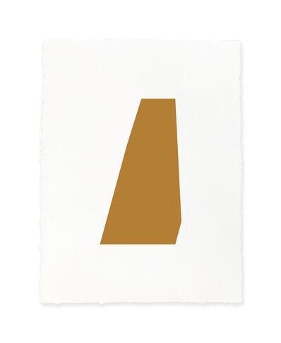 Jeff Kellar, 'white w/raw sienna', 2019