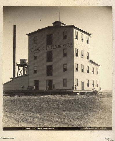 Isaiah West Taber, 'Tulare, Cal. The Flour Mills', ca. 1885