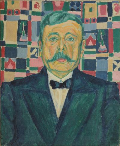 Heinrich Maria Davringhausen, 'Porträt eines Mannes, No 36', 1912