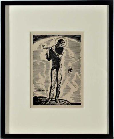 Rockwell Kent, 'Portrait of Me Improved', 1923