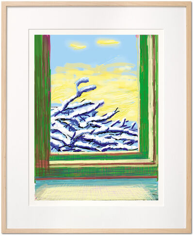 David Hockney, 'David Hockney. My Window. Art Edition (No. 501–750) 'No. 610', 23rd December 2010', 2019
