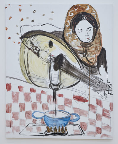 Mounira Al Solh, 'Isaaf & the luth', 2016