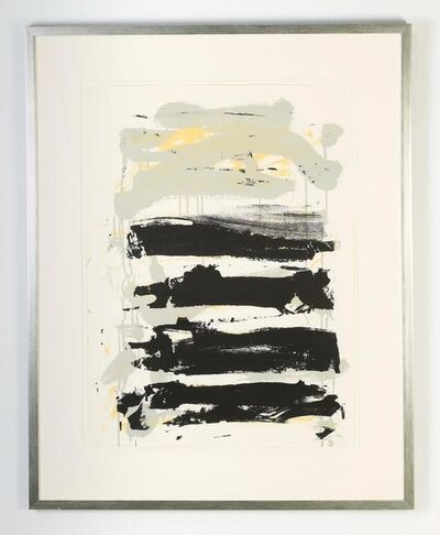 Joan Mitchell, 'Champs (fields) (Black, yellow, gray)', 1991