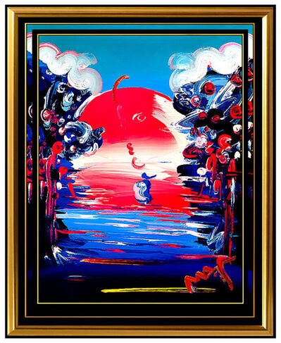 Peter Max, 'PETER MAX Original Signed PAINTING BETTER WORLD Pop ART Acrylic Oil Iconic LOVE', 2006