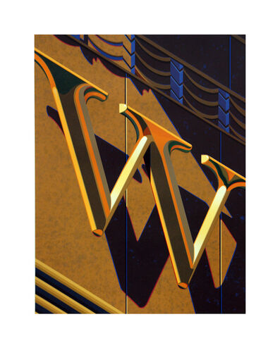 Robert Cottingham, 'An American Alphabet: W', 2010
