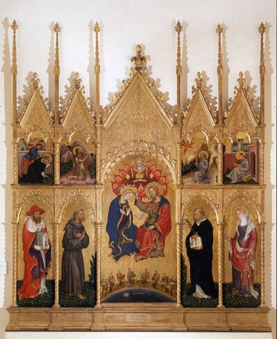 Gentile da Fabriano, 'Coronation of the Virgin and Saints', ca. 1410-1412