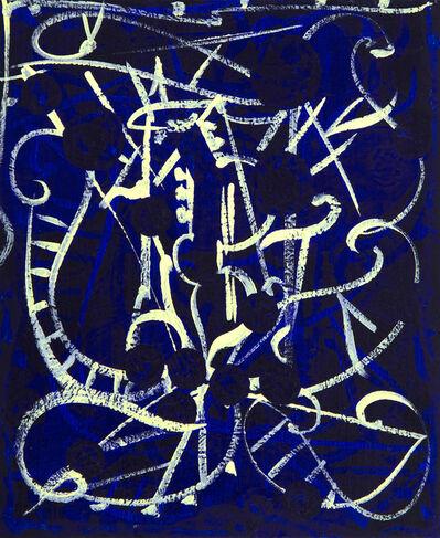 William T. Williams, 'Harlem Tales (Blue Line Series)', 2007