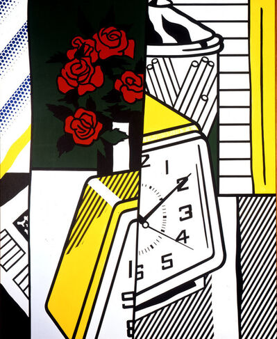 Roy Lichtenstein, 'Still Life with Clock and Roses', 1975