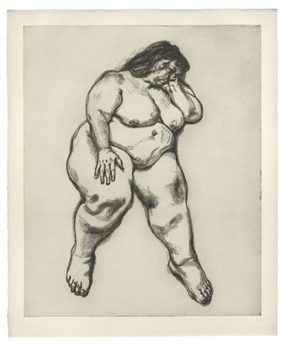 Lucian Freud, 'Woman Sleeping', 1995