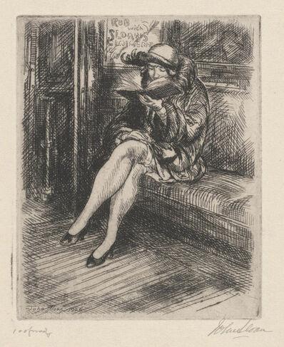 John Sloan, 'Reading in the Subway', 1926