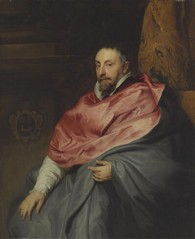 Circle of Sir Anthony van Dyck, 'Portrait of Bishop Antonius Triest (1576-1657), three-quarter length, seated'