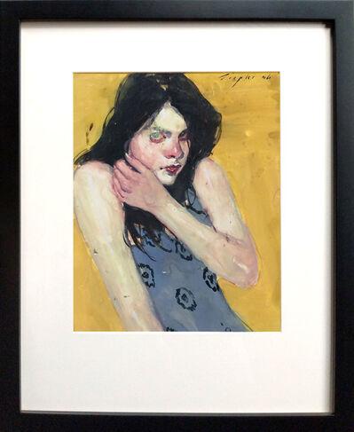 Malcolm T. Liepke, 'Brunette in Blue Dress', 2006