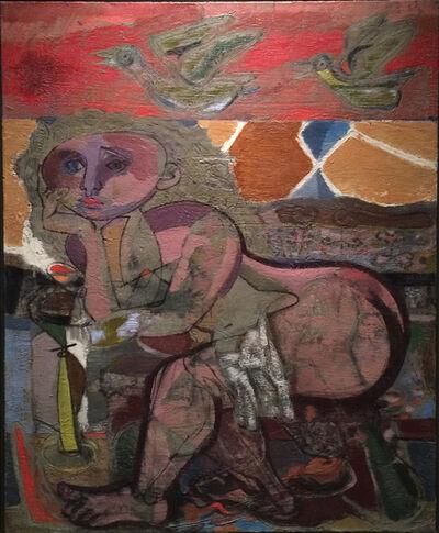 Jankel Adler, 'Sitzender weiblicher Akt', 1947