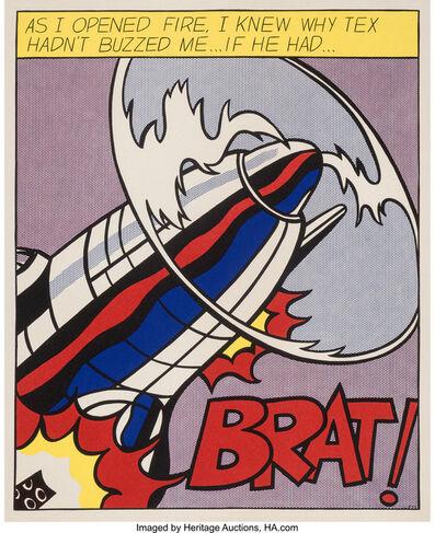 Roy Lichtenstein, 'As I Opened Fire, triptych', 1966