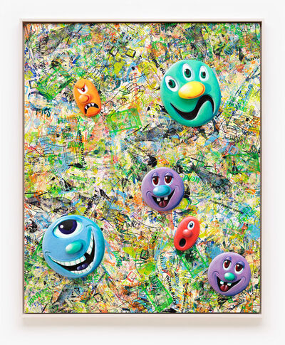 Kenny Scharf, 'Face Facts #5', 2014