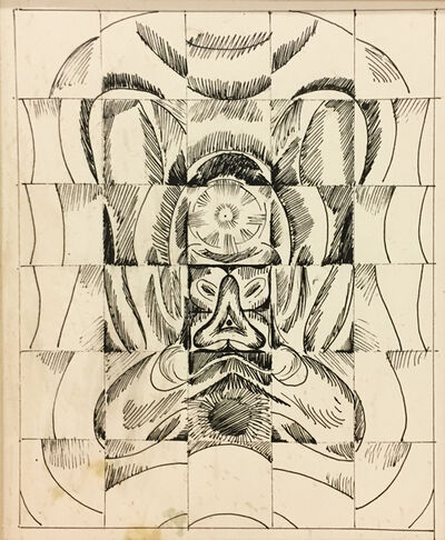 Gulam Rasool Santosh, 'Untitled (Tantric Drawing 2)', ND