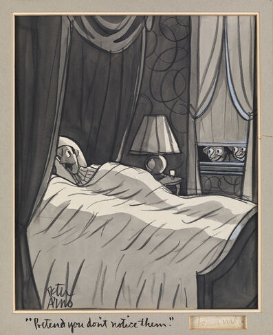"Peter Arno, '""Pretend you don't notice them."" Cartoon for The New Yorker, published March 10, 1934'"