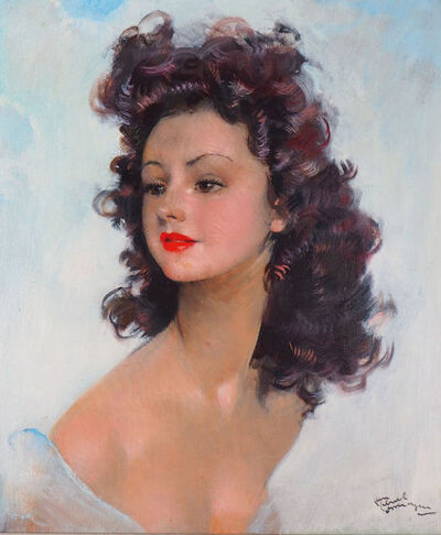 Jean Gabriel Domergue, 'Smiling Model', 20th Century