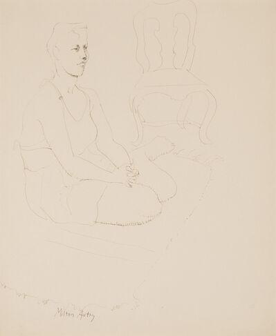Milton Avery, 'Stella Seated', 1943