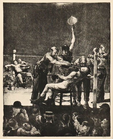 George Wesley Bellows, 'Between Rounds, Large, First Stone', 1916