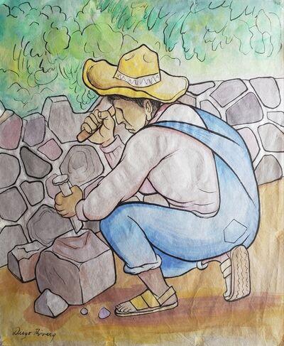 Diego Rivera, 'Tallador de piedra', 20th Century