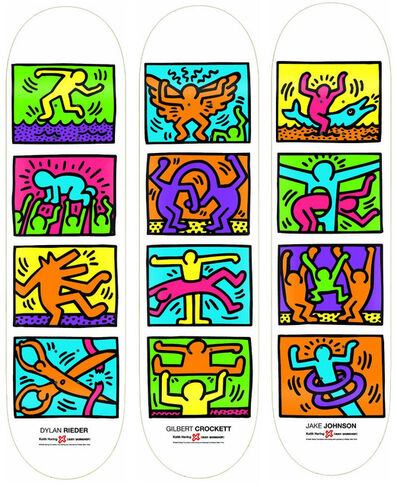 Keith Haring, 'Retrospective (set of 3 skateboards)', 2013