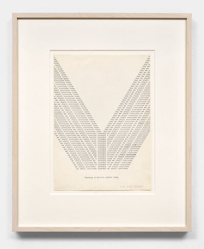 Ruth Wolf-Rehfeldt, 'Someday we shall overcome (Hommage à Martin Luther King)', 1970