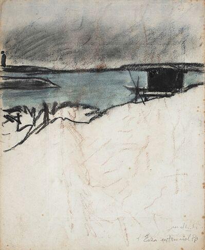 Carlo Mattioli, 'L'Enza entra nel Po', 1975