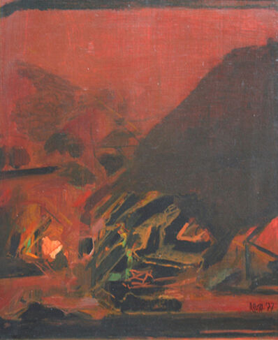 Syed Haider Raza, 'Untitled Brown Abstraction', 1977