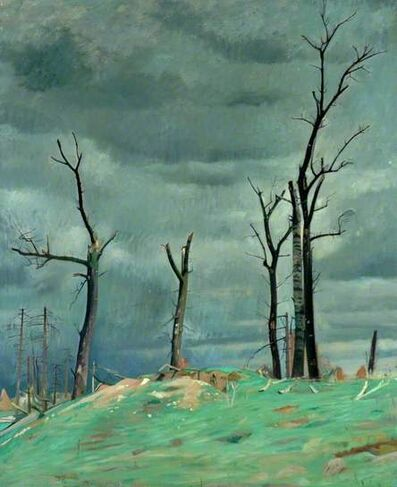 William Rothenstein, 'Avenue of the Chateau Bourlon, Western Front', ca. 1918
