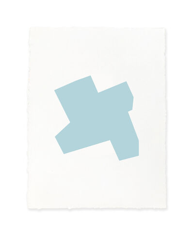 Jeff Kellar, 'white w/blue', 2019