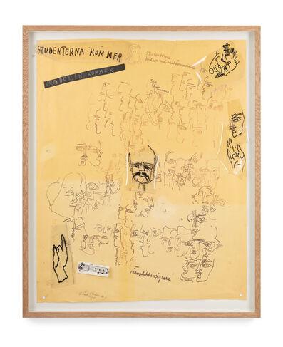 Siri Derkert, 'Studenterna kommer (skiss till Sverigeväggen)', 1967-68