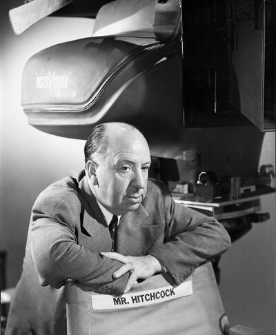 Bud Fraker, 'Alfred Hitchcock Leaning on Director's Chair, an Archival Print', 1954