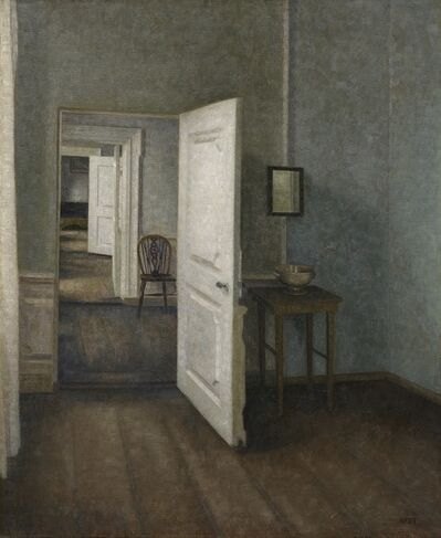 "Vilhelm Hammershøi, 'Interior. ""The Four Rooms""', 1914"