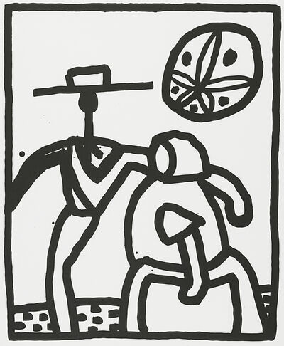 Keith Haring, 'Untitled (Amish Couple)', 1989